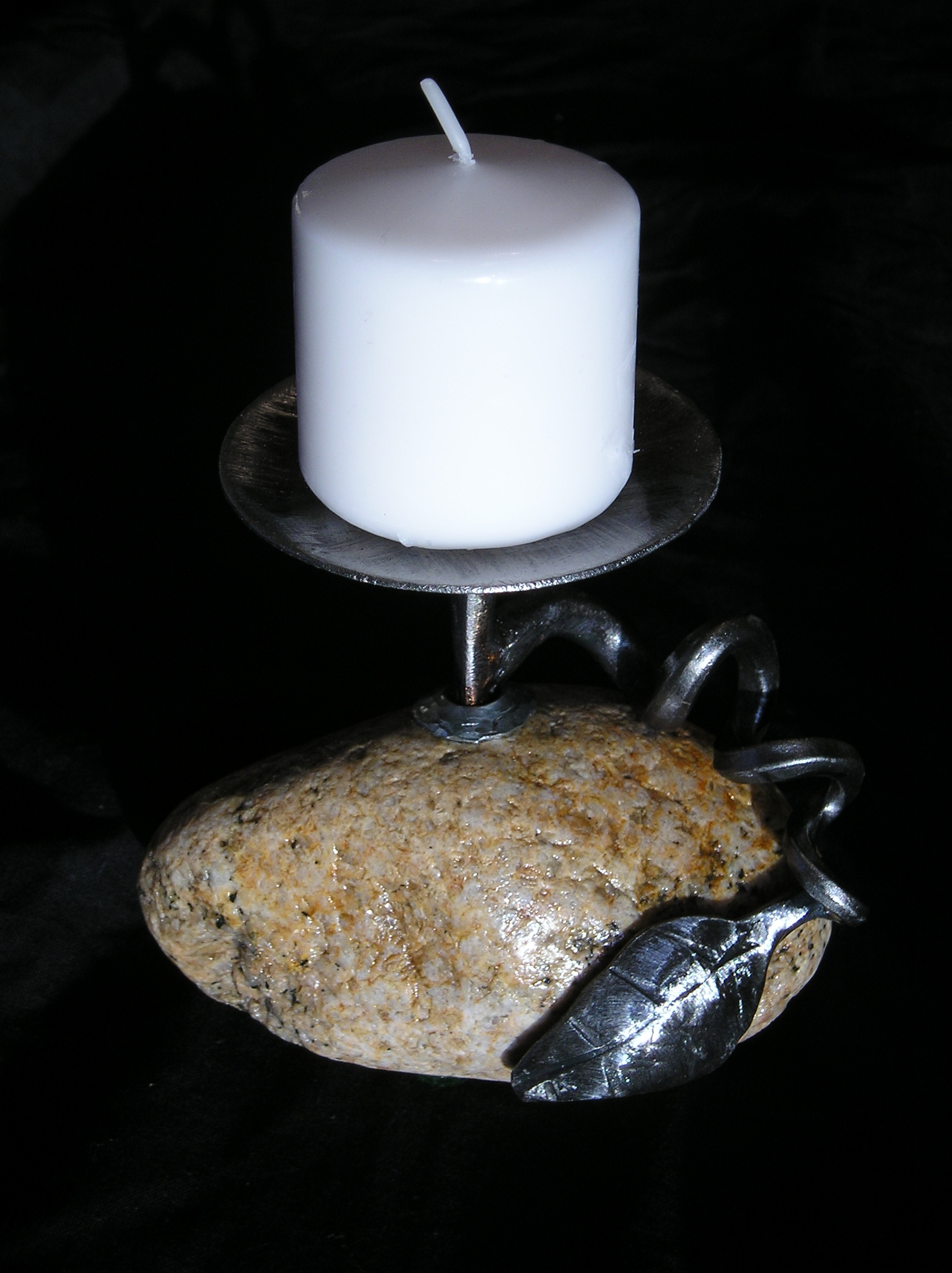 small rock candlestick