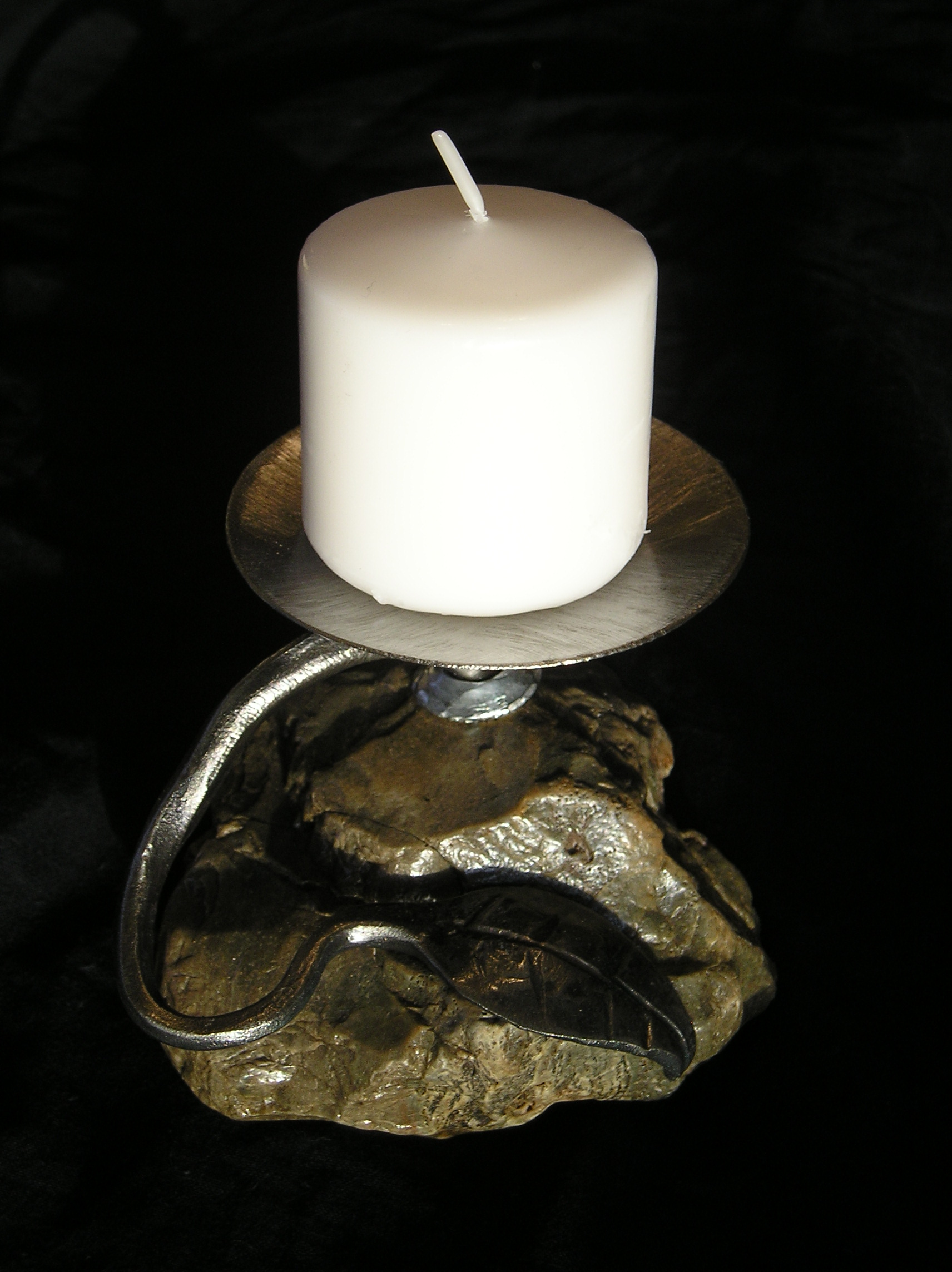 small rock candlestick 2