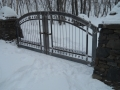 Hand forged steel driveway gates