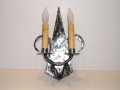 electric candle design wall light sconce